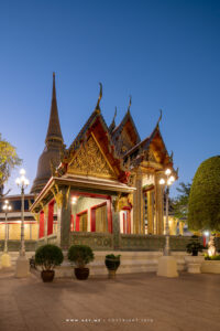 Twilight at Wat Ratchabophit