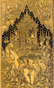 A Gold and Black Lacquered Window, Phra Ubosot, Wat Suthat